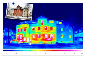 thermal imaging of an old, partly isolated house