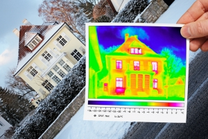 thermal imaging of a town house